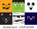 cute portraits of halloween... | Shutterstock .eps vector #1769232509