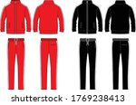 track suit fashion flat template | Shutterstock .eps vector #1769238413