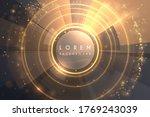 abstract gold light luxury...   Shutterstock .eps vector #1769243039