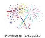 vector abstract anniversary... | Shutterstock .eps vector #176926160