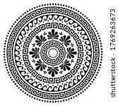 greek vector boho mandala... | Shutterstock .eps vector #1769263673