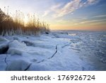 Winter Landscape With Frozen...