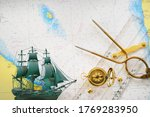 Golden Sundial  Antique W   Hc...