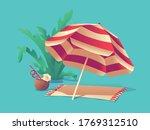 vector illustration of a beach... | Shutterstock .eps vector #1769312510