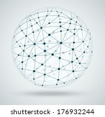 networks  global connections. | Shutterstock .eps vector #176932244