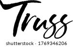 truss text. only one single... | Shutterstock .eps vector #1769346206