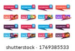 autumn sale  up to 50  off  set ... | Shutterstock .eps vector #1769385533
