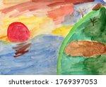 Watercolor Fantasy Landscape...