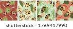 deciduous leopard pattern... | Shutterstock .eps vector #1769417990