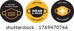 please wear mask icon vector... | Shutterstock .eps vector #1769470766