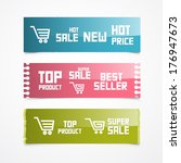 paper labels  tags  stickers.... | Shutterstock . vector #176947673