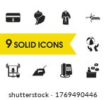 travel icons set with...