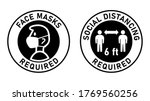 face masks required and social... | Shutterstock .eps vector #1769560256