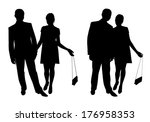 man and woman. couple of young... | Shutterstock .eps vector #176958353