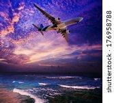 night flight | Shutterstock . vector #176958788