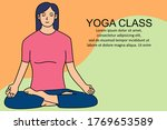 yoga class background. can use...   Shutterstock .eps vector #1769653589