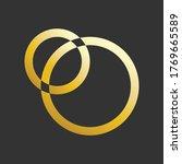 golden eclipse logo. metallic...