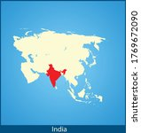 vector map of the india | Shutterstock .eps vector #1769672090