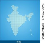vector map of the india | Shutterstock .eps vector #1769672093