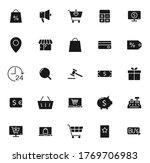 e commerce black vector icons...
