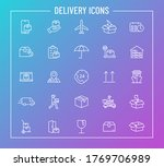 delivery outline vector icons...
