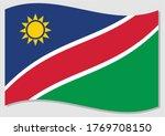 waving flag of namibia vector... | Shutterstock .eps vector #1769708150