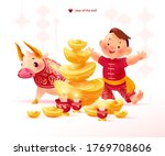 chinese new year congratulation ...   Shutterstock .eps vector #1769708606