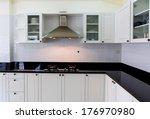 modern white clean kitchen... | Shutterstock . vector #176970980
