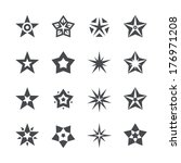 vector stars set on a white... | Shutterstock .eps vector #176971208