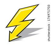 Vector Lightning On A White...