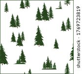 illustration with fir trees... | Shutterstock .eps vector #1769723819