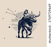 sign of the zodiac taurus. a...   Shutterstock .eps vector #1769729669