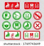 warning signs on transparent... | Shutterstock .eps vector #1769743649