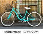 Vintage Bicycle With Basket...