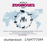 world zoonoses day  zoonotic... | Shutterstock .eps vector #1769777399