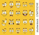 cartoon faces. funny face... | Shutterstock . vector #1769793749