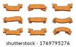 wooden banners. rustic... | Shutterstock . vector #1769795276