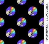 skull with rainbow vision badge ... | Shutterstock .eps vector #1769796866