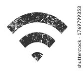 wi fi icon with grunge texture. ...