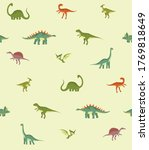 Vector Pattern With Dinosaurs....