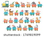 alphabet train with animals.... | Shutterstock .eps vector #1769819099