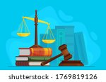 Law And Justice. Scale Justice...