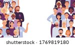 divided people crowd. vector...   Shutterstock .eps vector #1769819180