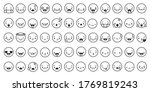 face expressions icons. line... | Shutterstock .eps vector #1769819243