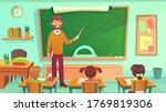 male teacher teaches students... | Shutterstock .eps vector #1769819306