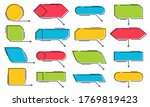 callouts titles. vector box... | Shutterstock .eps vector #1769819423