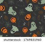 halloween vector seamless...   Shutterstock .eps vector #1769831960