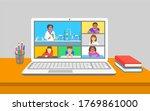 online education virtual... | Shutterstock . vector #1769861000
