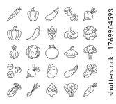 vegetable icons set vector... | Shutterstock .eps vector #1769904593