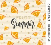 postcard with fresh orange ...   Shutterstock .eps vector #1769922650